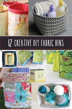 12 Creative DIY Fabric Bins. I probably have most of these pinned individually, but nice to have them in one blog.