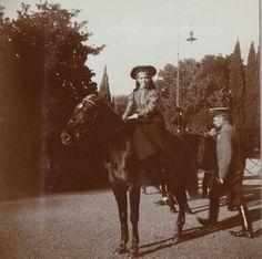 Maria on horseback