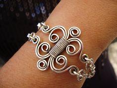 Bracelet Masterpiece silverplated wire | por PDFPatternDesign