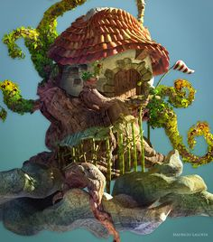 Mr. Galosh's House on the Tree by Mauricio Salgueiro, via Behance