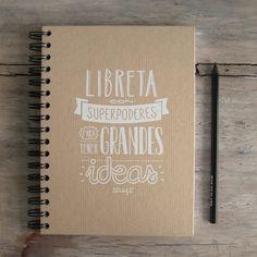 libreta con Supepoderes para tener grandes ideas