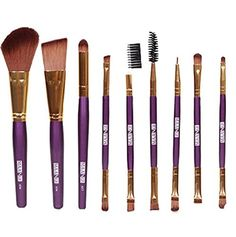 Makeup Brushes Vovotrade 9pcs Cosmetic Eye Shadow Foundation Blending Brushes Purple *** Continue to the product at the image link.