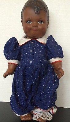 Vintage-Daisy-Kingdom-1991-African-American-baby-Doll-12