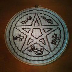 Supernatural Devil's Trap pattern on Craftsy.com