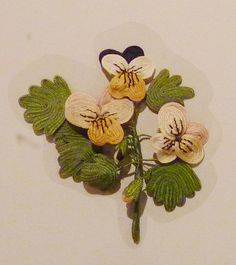 needlework 'favours' or love tokens from the 1600s