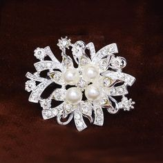Find More Brooches Information about 43*43mm handmade Imitation pearl flower vintage brooch rhinestone brooches for women diy Fashion Jewelry breastpin brooch pins,High Quality brooch rabbit,China brooch red Suppliers, Cheap brooch dragon from Playful beauty department store on Aliexpress.com
