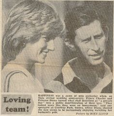 Diana , un match de polo Cowdray Park, Midhurst -  Juillet  1983  _ Suite