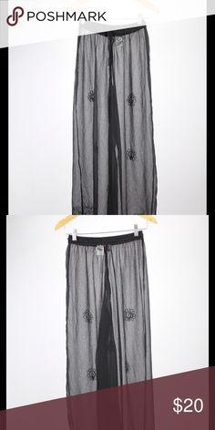 Black Linen Sun & Sand Lounge Pants See through black linen lounge pants, perfect condition sun & sand Pants