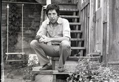 Leonard Cohen's life in pictures: 1974 at his West Montreal home on Rue Dominiqu by John Rowlands