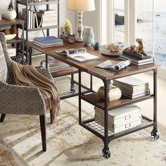 High Quality INSPIRE Q Nelson Industrial Modern Rustic Storage Desk   Overstock™  Beautiful, Industrial Pipe And Wood Desk. Photo