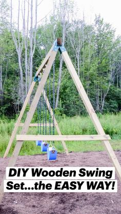 Diy House Projects, Backyard Projects, Diy Wood Projects, Outdoor Projects, Backyard Swing Sets, Backyard Playground, Backyard Pergola, Patio, Outdoor Fun