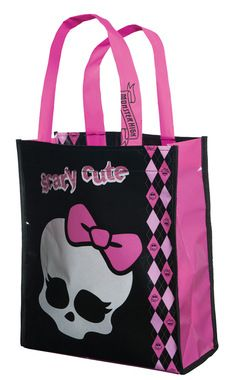 A great accessory for any of your child's Monster High costumes. This trick-or-treat bag will hold tons of treats! Pink and black design. Double stitched handles with reinforced stitching on rim of ba