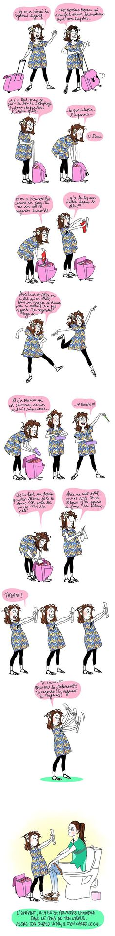 Lintimit qd on est maman cest a. et cest tellement vrai ! Dirty Dancing, Haha, Girl Humor, Funny Cute, Make Me Smile, Illustration, Have Fun, Funny Pictures, Jokes