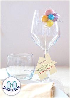 SEGNAPOSTO CASETTA 'UP' con confetti  set 20 di giadacontewedding