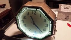 Old neon clock I found on abandoned farm.  Still works!!!