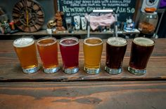 "A beer flight at one of the great San Diego breweries. San Diego claims to be the ""Craft Beer Capital of America,"" and with over 85 breweries in the county, it just might be. via @Travel Addicts"