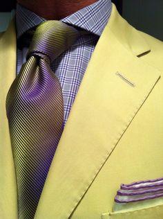 Polo RL khaki suit, Emanuel Berg MTM shirt & Richard James tie.