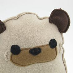 BallZ the Pug Plush Pillow  PLUP002  Made To Order by maustudio, $22.00