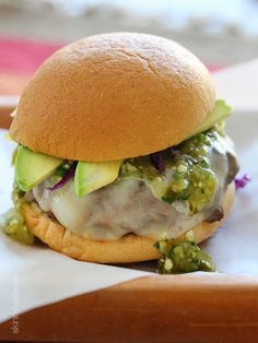 Salsa Verde Burger - could be black bean burger.