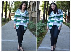 Girl With Curves: Bright Stripes