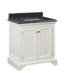 Cedar Cove 30 in. Vanity in White with Engineered Stone Vanity Top in Blue, 30BV0725-O127 at The Home Depot - Mobile