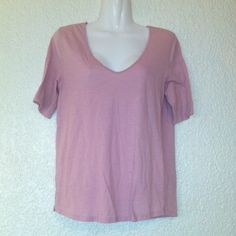 "ANTHROPOLOGIE ""Pure+Good"" Tee V-neckline. 100% cotton. Dust rose. Anthropologie Tops Tees - Short Sleeve"