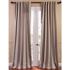 Charleston Stripe Tan Blackout Curtain | Overstock.com Shopping - The Best Deals on Curtains