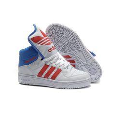 e34f18764791 JS Men's adidas Originals Metro Attitude Logo W Shoes - White Red Blue  Adidas Cap,