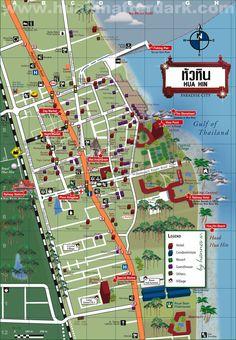 Hua-Hin-City-Map.jpg (1000×1443) http://chefleez.com Thai cooking class in Bangkok