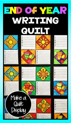 These summer writing prompts make a great end of year writing activity and as a bonus you can create a great quilt display with their writing! End Of Year Activities, Writing Activities, Summer Activities, Teaching Resources, Teaching Ideas, 4th Grade Writing, Second Grade Teacher, Fourth Grade, Third Grade