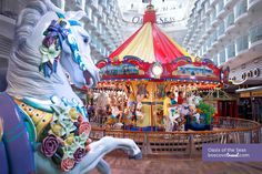 Royal Caribbean Oasis of the Seas Carousel #Travel #Cruise #OasisoftheSeas #Carousel    You have to ride it at least once. I don't care how old you are or how stupid you feel, just do it.