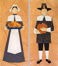 Pilgrims Paper-Pieced Quilt Pattern at paperpanache.com