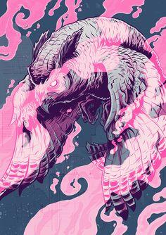 """Illustration inspired by Blade Runner for the """"Skinjobs"""" zine."""
