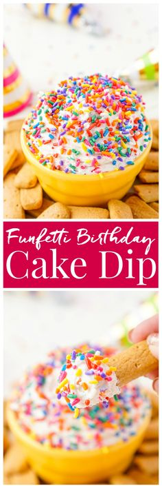 This Funfetti Birthday Cake Dip is perfect for serving up at parties or enjoying…