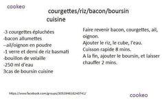 Courgettes riz bacon boursin