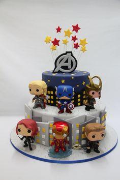 Avengers Superheroes Funko Pop Fondant Cake Marvel Lynh Kitchen Biet Doi Sieu Anh Hung