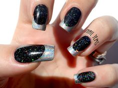 By Nail Jems - Spectraflair Holographic French Tips www.nailjems.blogspot.com