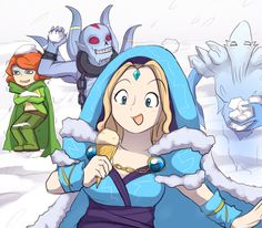~Windranger ~Lich ~Crystal Maiden ~Ancient Apparition ~Dota 2 ~By keterok