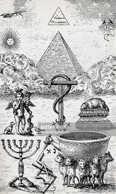 High Degree Symbols From the book The Freemason by Eugen Lennhoff... News Photo | Getty Images