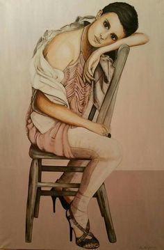 Oil painting 90x120cm, author: Lucie Přikrylová