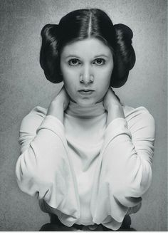 Princess Leia Organa of Alderaan: Royalty turned revolutionary, the laser-gun toting princess has a soft spot for rogues & is cool even before you know she has Jedi blood. (Star Wars Episode IV: A New Hope, 1977, George Lucas. Portrayed by Carrie Fisher)