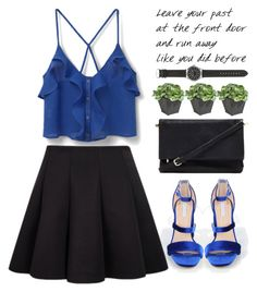 """""""Royal blue!"""" by amilla-top ❤ liked on Polyvore featuring MANGO, Forever 21, Ethan Allen and J.Crew"""