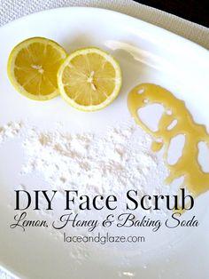 DIY Face Scrub #lemon #facescrub #honey #natural