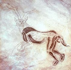The Sorceror, shows his union with a deer , Trois Freres, France, ca. 13,000 B.C.