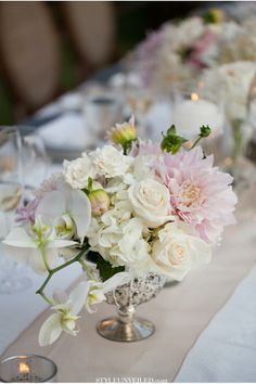 Low centerpieces centerpieces and vases on pinterest