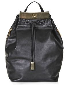 Topshop Leather Plated Backpack