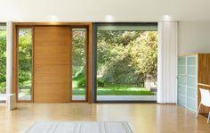 Puerta de entrada de aluminio y madera LINEA HP by De Carlo Casa