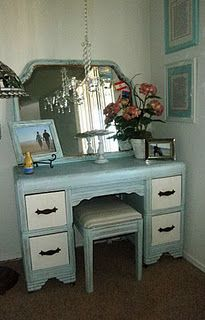 This is almost the exact style of my vanity. I love the look of it painted!