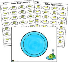 """""""Green eggs"""" counting mats"""