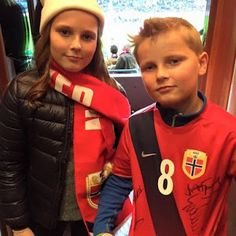 Norwegian Royals attend play off game between Norway and Hungary